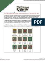 Mayan Prophecies and Calendar