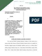 INDEMNITY INSURANCE COMPANY OF NORTH AMERICA v. SANDSTONE NORTH LLC et al complaint