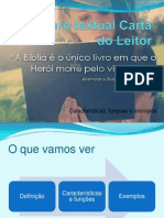 Gênero textual Carta do Leitor