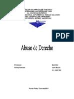 Abuso de Derecho.- Republica Julio Bucan