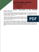 Revised Major Development Challenges in Eastern Africa