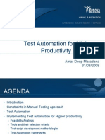 Test Automation for High Productivity