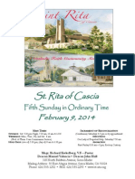 St. Rita Parish Bulletin 2/9/2014