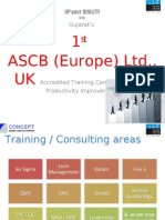 Lean Six Sigma Training Brochure