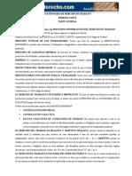 Cuestionario de Derecho de Trabajo 1