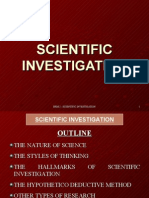 Lesson No 2 - Scientific Investigation