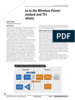 An Introduction to the Wireless Power Consortium Standard Ans TIs Compliant Solutions