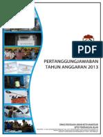 Laporan Pertanggungjawaban UPTD Penerangan Jalan DPU Makassar Tahun 2013