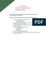 English Language Professional Business Writing - Mda