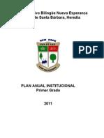 Centro Educativo Bilingüe Nueva Esperanza plan anual 1 2011