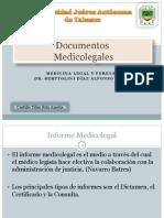 Documentos Mèdico Legales' grupoA