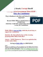 Corrupt Ozaukee County Sheriff Maury A. Straub