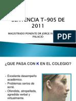 Sentencia T-905 de 2011