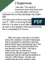Nova and Supernova