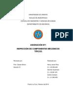 Asignación de mantenimiento mecánico sobre inspecciones rutinarias