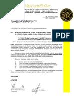 Contoh Surat Memohon Sumbangan Derma Pembangunan Surau Alfirdaus Taman Garing Utama, Rawang, Selangor