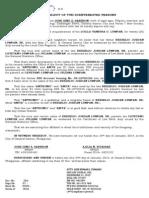 AFFIDAVIT of 2 Disinterested Persons Correction of Name---CUAREZ