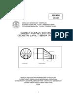 Gambar Bukaan Bentangan Geometri Lanjut Benda Tansisi