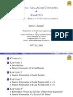 kinematics of parallel manipulators