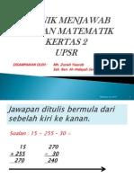10 Teknik Menjawab Soalan Matematik Kertas 2