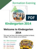 parent information evening 2014