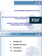 Country Financial Accountability Assessments (CFAAs)