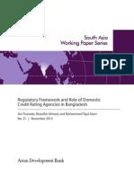 Regulatory Framework and Role of Domestic Credit Rating Agencies in Bangladesh