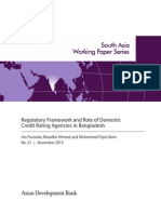 Regulatory Framework and Role of Domestic Credit Rating Agencies in Bangladesh