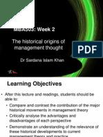 Principals of Management - MBA  Week2