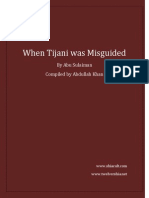 When Tijani Was Misguided