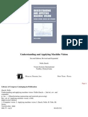 Understanding and Applying Machine Vision | Image Scanner