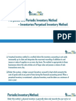 Perpetual and Periodic Inventory Method – Inventories Perpetual Inventory Method