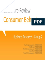 Literature Review on Consumer Behavior