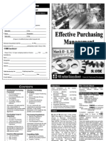 Effective Purchasing Managment