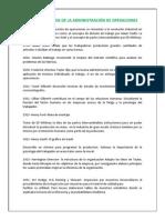 HECHOS HISTÓRICOS DE LA ADMINISTRACIÓN DE OPERACIONES