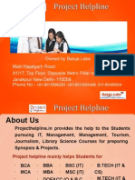 B.tech Synopsis and Projects Presentation