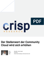 Der Stellenwert der Community Cloud wird sich erhöhen