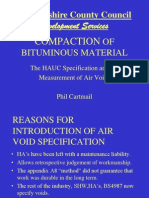 COMPACTION OF BITUMINOUS MATERIAL stoke jan 03.ppt