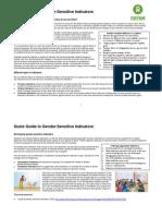 Quick Guide to Gender-Sensitive Indicators