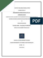 62025655 Report of Organization Study at Kerafibertex International Pvt Ltd