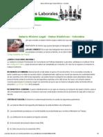 Salario Mínimo legal- Datos históricos- Colombia