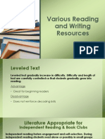 various reading resources