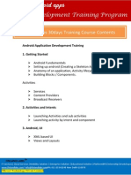 Android Application Development Training Course Contents