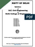 Civil Syllabus - Delhi College of Engineering