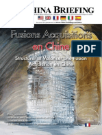 Fusions Acquisitions en Chine