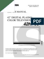 Toshiba 42hp66 Service Manual