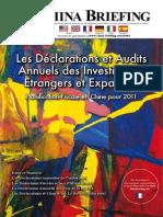 Les Declarations et Audits Annuels des Investisseurs Etrangers et Expatries