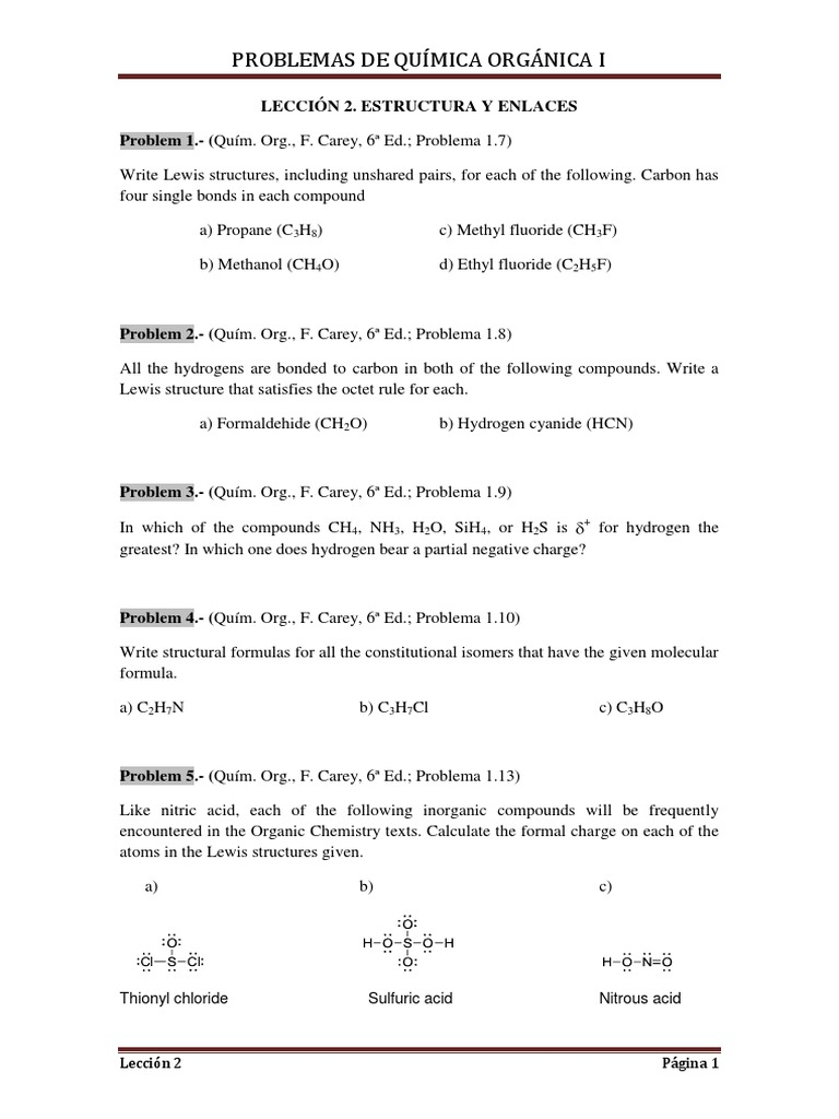 Problemas Lección 2 Pdf Ion Interaction