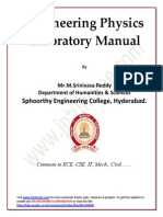 1st Year Physics Lab Manual All Experiments