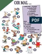 Islcollective Worksheets Elmentaire a1 Printermdiaire a2 Secondaire Lyce Criture Lecture Avoir Mal 202544de336c3522670 66382929